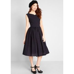 ModCloth fabulous fit and flare SOLID black dress